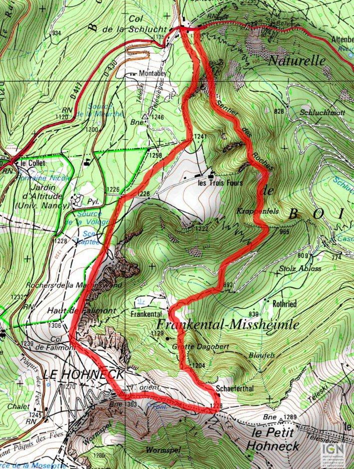 Carte Randonnee Alsace.Xander S Web Les Photos Des Vosges Sentier Des Roches
